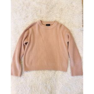 Topshop Nordstrom's US 2 waffle sweater blush